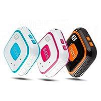Chen0-super GPS Tracker RF-V28 gsm GPS localizador SOS Comunicador lbs WiFi Posicionamiento Alarma de Seguimiento en Tiempo Real para Niños Niños Niños Ancianos Personal, Color Black Add Box