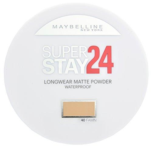 Maybelline New York Superstay 24h Puder Fawn 40 / Wasserfestes Make-Up Powder in einem Hautfarben-Ton, für einen langanhaltenden und makellosen Teint, mit Micro-Flex-Formel, 1 x 9 g