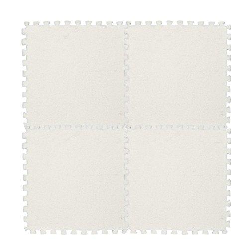 Baumwolle Floral Kopfkissenbezug (Fulltime Kinder Teppich Schaum Puzzle Matte EVA Shaggy Samt Baby Eco Boden 7 Farben, 30 * 30 cm (Weiß))