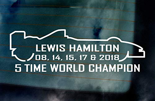Pro Lewis Hamilton #TEAMLH 5 Time World Champion 2018 Car Van Window Windscreen Bumper Vinyl Die Cut Custom Stickers Decals Graphics Orange 500mm x 160mm -