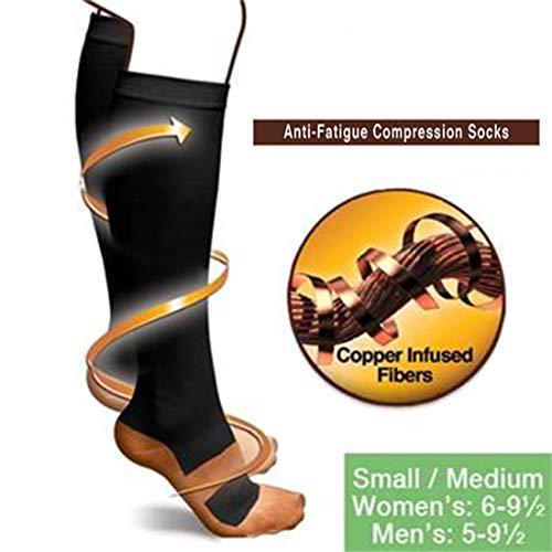3 Para Kompressionsstrümpfe Kompressionssocken Unisex Anti-Müdigkeit Fuß Schmerzlinderung Weiche Bein Unterstützung Dropshipping Heißer Schwarz S/M (42-44)