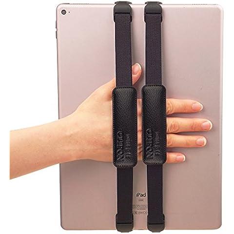 willbee Clipon para 12~ 13inch (negro) soporte Universal de banda de dedo anillo mano agarre correa de sujeción soporte funda inteligente–Apple iPad Pro 12.9Surface Pro4Pro3Galaxy Note 12.2Tab Pro S 12,0IdeaPad Miix 700