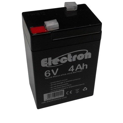 Batteria al piombo 6V 4Ah ricaricabile ermetica faston 4,8mm 4,5Ah 5Ah per lampade emergenz