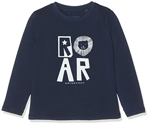 Bellybutton Kids Baby-Jungen T-Shirt 1/1 Arm Langarmshirt, Blau (Peacoat|Blue 3470), 74 -