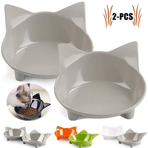 Legendog Futternapf Katze, 2 Stück rutschfest Katzen Napf | Katzennapf Set | Fressnapf Katze | Futterschüssel Katze | Wasser Fütterung Schüssel