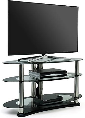 Opal Meuble TV en verre pour téléviseur jusqu'à 39