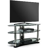Centurion Supports Il basamento di vetro opalino TV per televisori fino a 39