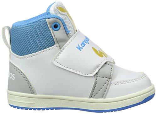 KangaROOS Unisex Baby Babyroo Hi A Lauflernschuhe Mehrfarbig (White/blue) lNrdMlMxN