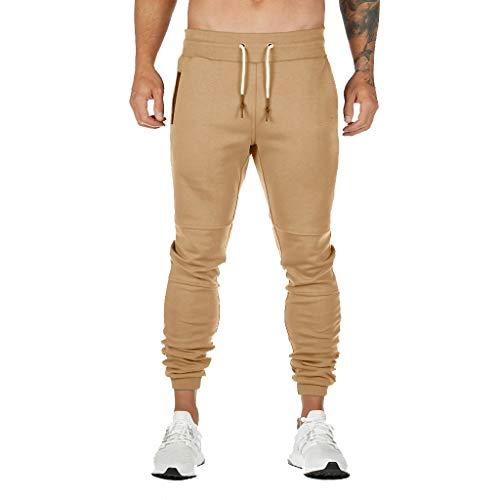 LianMengMVP Pantaloni da Jogging Uomo Sportivi Pantaloni Uomo Lunghi Cargo con Coulisse Tasche Laterali Trousers della di Sport Pants Elastici Casual Maschi Cerniera Pantaloni da Corsa