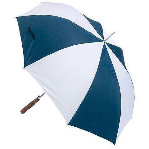 All-Weather 48 Inch Auto Open Umbrella - Red / White / Blue