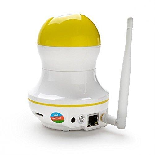 KK003 720P 1.0MP HD IP-Kamera Wlan mit Karteschlitz für 64GB Mikro SD Zugriff über Internet/Wlan zur Videoüberwachnung/Aufzeichnung auf PC iPhone/Android/Tablet - Zwei-Wege-Audio, Pan/Tilt, Nachsicht 8m, Bewegungsmelder - Unterstützt werde Windowsphone, noch NAS/Surveillance Station (Generation 1. Ipad 32)