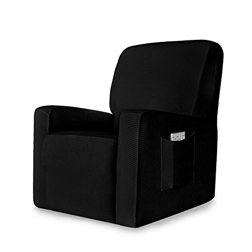 Chun yi 1pezzi jacquard stretch per poltrona, sedia relax, sedia a sdraio, sedia a dondolo, sedia relax, sedia reclinabile, sedia, colori vari nero