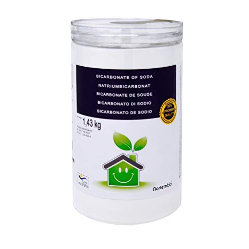 NortemBio Bicarbonato de Sodio 1.43 Kg, Insumo Ecológico de Origen Natural, Libre de Aluminio, Producto CE.
