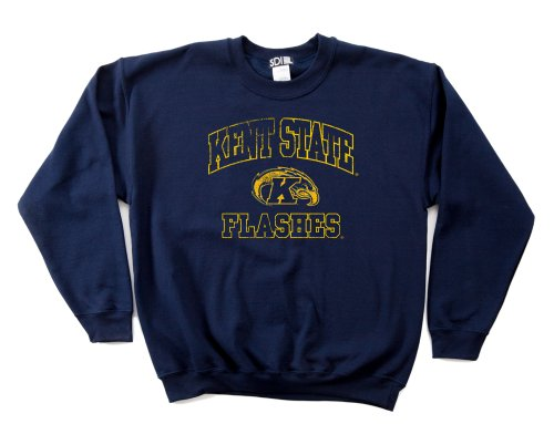 NCAA Kent State Golden Flashes 50/50 Blended 236 ml Vintage Maskottchen Rundhals-Sweatshirt, Herren, Navy, Small -