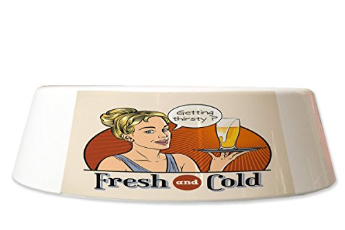 LEotiE SINCE 2004 Fress Futter Napf Bier Bar Kneipe Frisch und kalt Bedruckt
