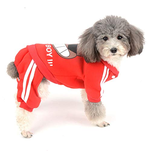 Ranphy Hundepullover mit Kapuze, Fleece, für kleine Hunde und Jungen, Winterpullover, warm, für Chihuahua Kleidung Welpen