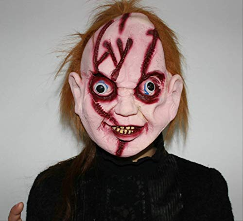 Wbdd Maske Chucky Maske Schauspieler Kopfbedeckung Latex Voller Kopf Erwachsene Kostüm Halloween Gruselig Beängstigend 1pcs (Chucky Für Erwachsene Halloween-kostüme)