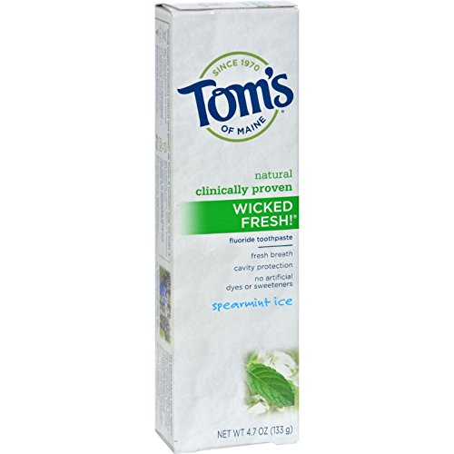 Tom's of Maine Fluoride Toothpaste, Spearmint Ice, 4.7 Oz by Tom's of Maine