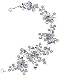 Yazilind tocados novia diademas para el pelo mujer tocados de pelo Estilo de la flor de la joyer¨ªa del vestido de pelo (Estilo1)