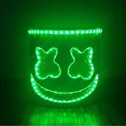 Mask Neon -Flashing Headgear Stage Performance Mask Helmet Music Festival Props Glowing Marshmallow Without - Masks Masquerade Unicorn Half Mask Luxury Children Male Bundles Dinosaur That (Ball Stick-masken Für Masquerade)