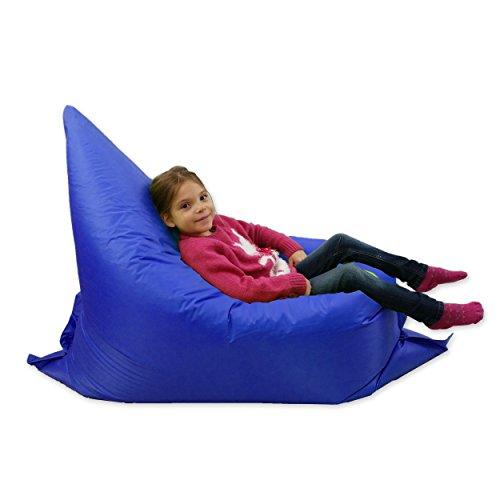 Kids BeanBag Large 6-Way Garden Lounger - GIANT Childrens Bean Bags Outdoor Floor Cushion BLUE - 100% Water Resistant Test
