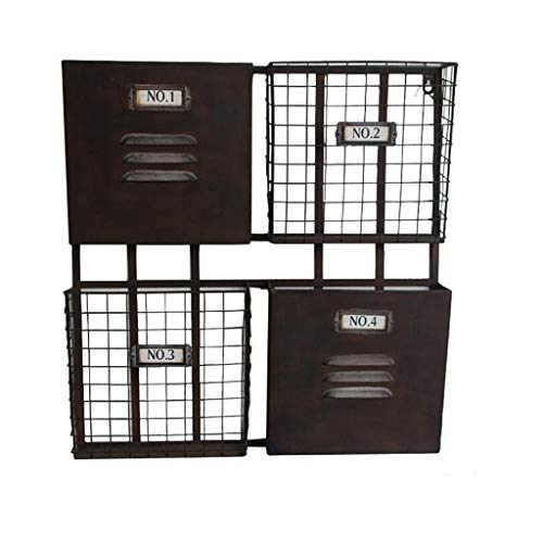 DFFS Regal Regal Ecke Display Display Rack Retro Industrial Style Magazin Zeitung Wandregal Bücherregal Ablagekorb Regal Display Regal Bar Wandbehang Regal (Farbe: SCHWARZ) (Display-regal Ecke)