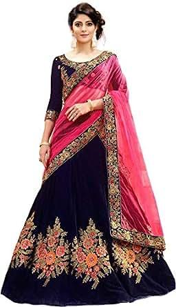 MRS WOMEN Cotton Silk Lehenga Choli (Xie_Beige_Free Size)