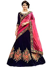 MRS WOMEN Women's Cotton Silk Lehenga Choli (Xie_Beige_Free Size)