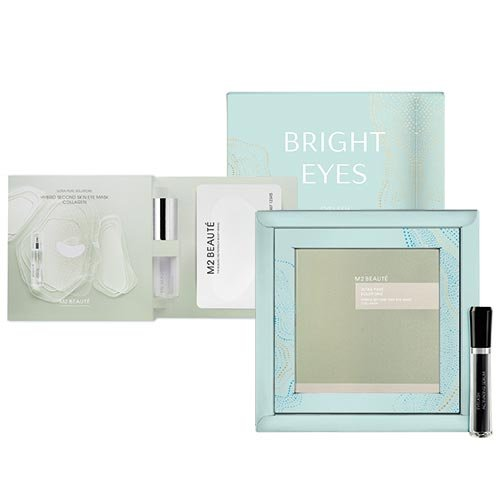 M2 Beauté Bright Eyes Bundle (Hybrid Second Skin Eye Mask Collagen+Eyelash Activating Serum)