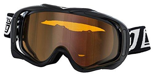 Dirty Dog Goggles 54117 Schwarz glänzend Outrigger Visor Goggles Lens Mirrored