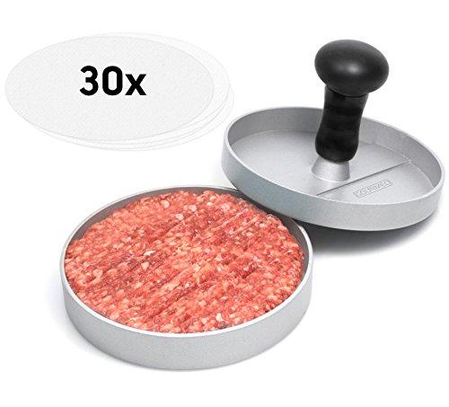 gourmeo-premium-burgerpresse-30-blatt-antihaftpapier-aus-aluguss-mit-antihaftbeschichtung-mit-2-jahr