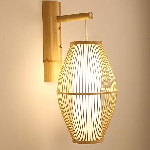 NAKAN Moderne Wandleuchte Wandleuchte, Bambus/Korb DIY Gewebt Kunst Wandleuchte for Esszimmer Lampe Wohnzimmer Korridor Balkon Treppe Wall Lights -