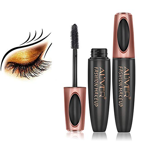 4D Silk Fiber Lash Mascara Waterproof, Luxuriously Longer, Thicker, Voluminous Eyelashes,...
