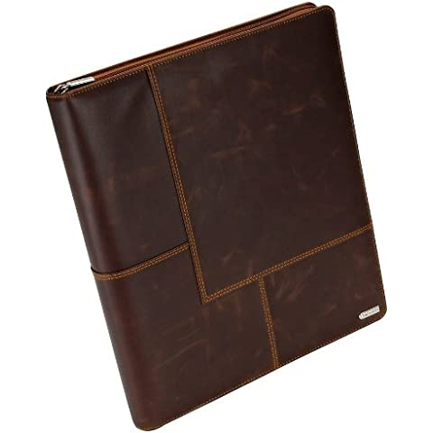 Tarjeta de visita Rolodex Organizador 22337 Explorador del cuero del libro 240-Card Cap. 11 x 13 1/2 Brown