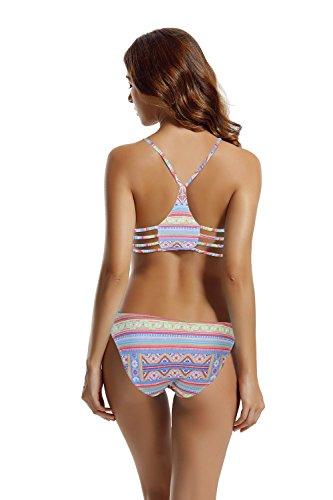 Zeraca Damen Strap Side Bikinihosen Racerback Bikini Sets Bademode Thailändisches Tief