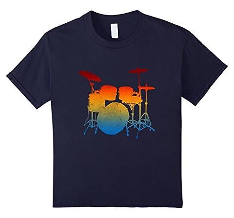 unisex-child Drummer Drum Sticks T shirt Love Percussion Rock Gifts Tee 4 Navy