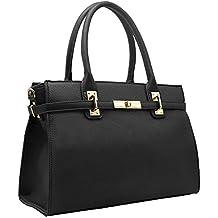 556a6e44f6e91 CRAZYCHIC - Bolso de Mano Mujer - Tote Shopper Cuero Genuino - Bolsos de  Hombro Bandolera