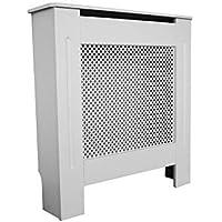 PanaCasa - Cubierta de Radiador Calefactor Madera MDF de 8 Hojas Color Blanco Mate Puede Hacer