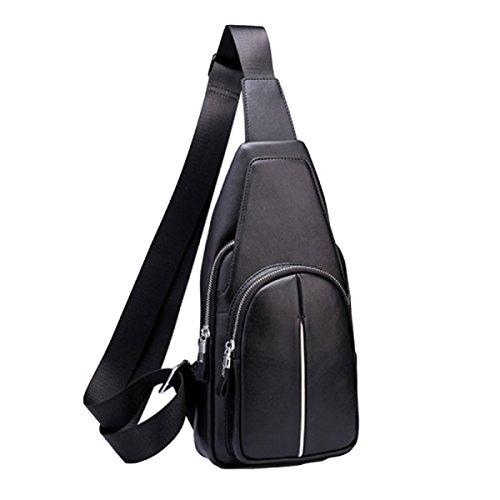 Leder-Kastenbeutel-Kreuzpaket Kurierbeutel-Schulterbeutel-Beutelart Und Weisefreizeit Im Freien Black