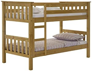 Single Bunk Bed, Solid Pine, 3ft Barcelona, 5 Year Guarantee, Best Selling Bunk