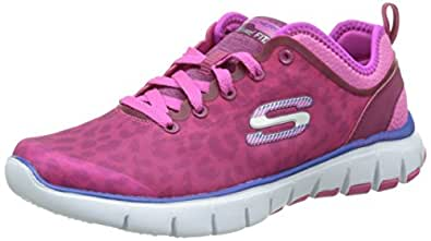 Skechers Women's Relaxed Fit Skech Flex Power Play Training Shoe,Hot Pink,US 11