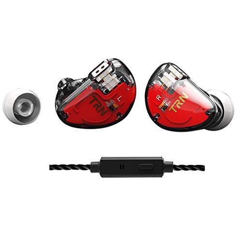 Ear HIFI SIX-Unit Ring Eisen Kopfhörer Telefon Subwoofer Mit Mikrofon Handy-Subwoofer-Kabel-Headset (mit Weizen) (klar)