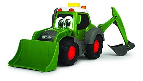 Dickie Toys 203814013 Happy Fendt Loader - Coches de Juguete para niños a Partir de 1 año, camión de Obras, Excavadora, Coches de Juguete, luz y Sonido, Color Verde