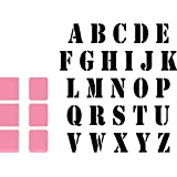 Marianne Design Collectables Troqueles Alfabeto, Metal, Rosa, 3x6.3x5 cm