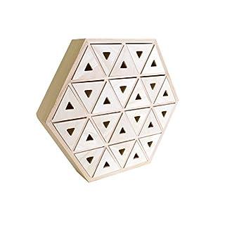 Artemio Wooden Advent Calendar to Decorate Hexagon-36cm x 31.3cm x 6.4cm, Wood, 36 x 6.4 x 31.3 cm
