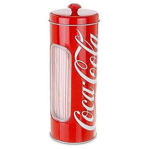 Coca Cola 092244 Boîte métallique à pailles
