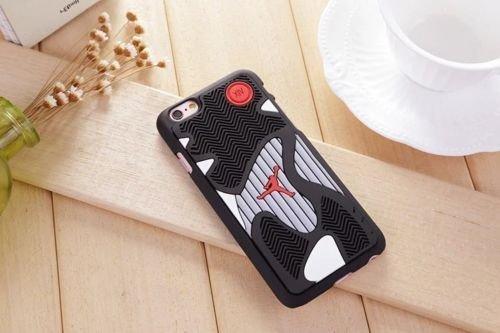 New Air Michael Jordan 3D Sports Shoe Rubber Sole Case For Apple iphone 7, Design 02 Design 02