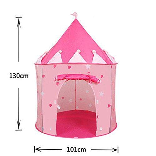 WGE Children Familie Zelt Haus Hausrat Jung Jungbulle Kinder Kleinkinder Mädchen Geburtstag Präsent , Pink Castle