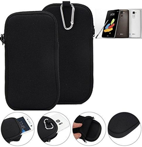 K-S-Trade Neopren Hülle für LG Stylus 2 DAB+ Schutzhülle Neoprenhülle Sleeve Handyhülle Schutz Hülle Handy Gürtel Tasche Case Handytasche schwarz