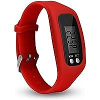 FAVOLOOK fitness tracker Watch, semplicemente operazione pedometro corsa con conteggio calorie bruciate e passi, red